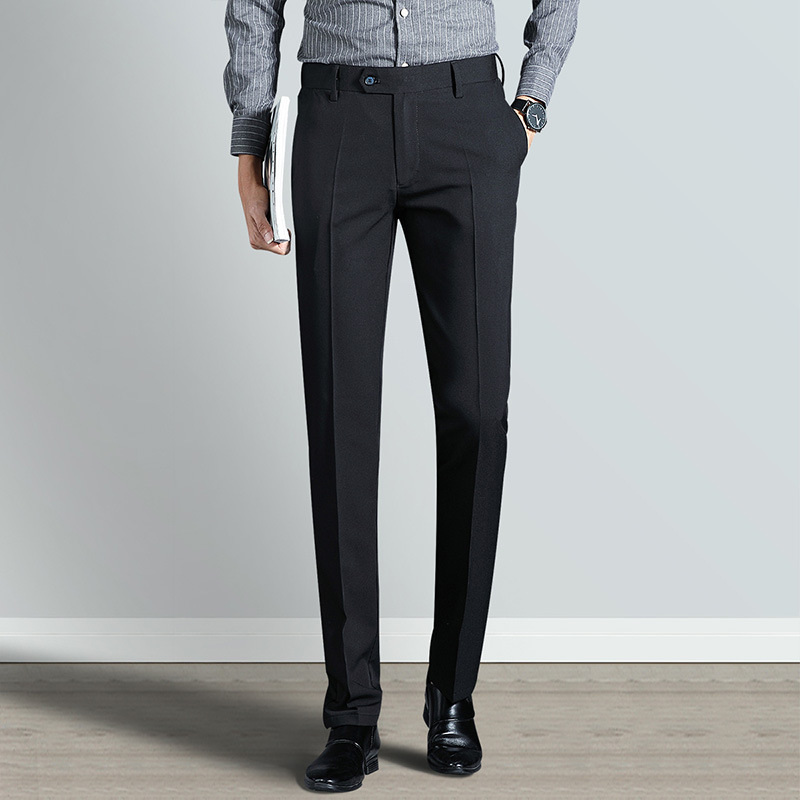 2019 Spring Summer Men Pants Business Soft New Slim Fit Homme Long Pants Stretch Man Trousers Formal Straight Suits Pant YN10499 in Suit Pants from Men 39 s Clothing