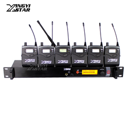 Professional Monitoring UHF Wireless In Ear Earphone Stage Monitor System One Transmitter With 6 Receiver Video Recording SR2000