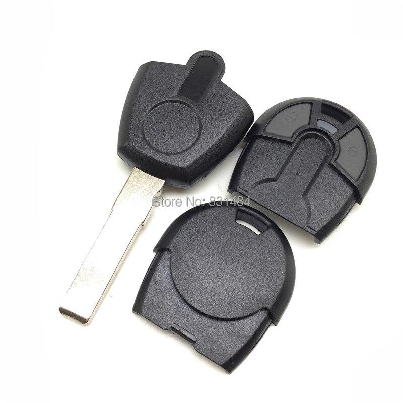 Prix pour 20 pcs/lot Nouveau style 2 boutons Remplacement de Clé de Voiture Pour Fiat Clé à transpondeur Shell pas de puce ébauche de clé fob avec logo