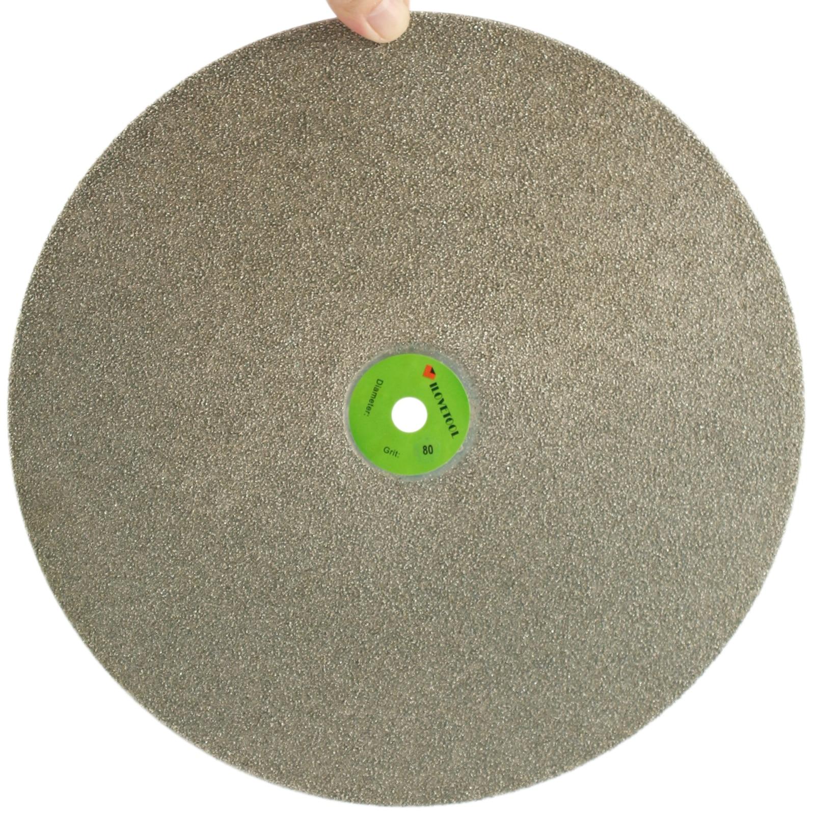 14 inch Diamond Coated Flat Lap Disk Grinding Polishing Wheel Grit 80 - 1000 ILOVETOOL 6 inch lapidary concave arc diamond coated grinding wheel grind spherical 6 mm ilovetool