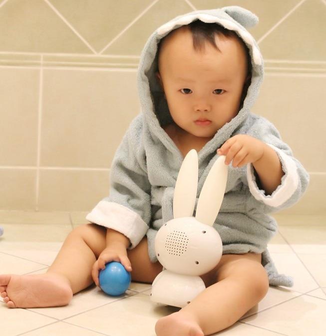 5 Color Baby Boy Girl Dressing Gown Splash Wrap Bath Hooded Towel