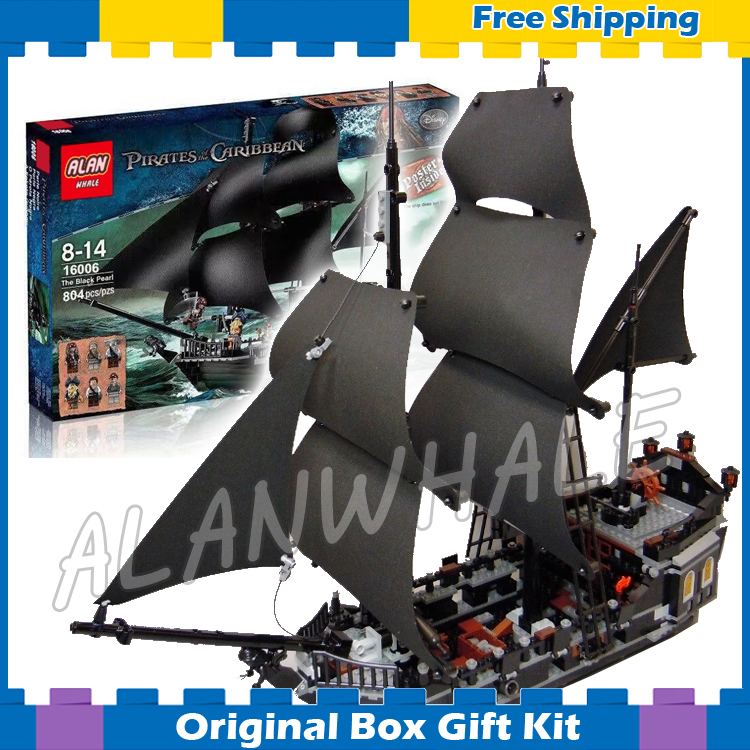 804pcs 16006 Pirate Series Pirates of the Caribbean Black Pearl Model Building Blocks Sets Toys Compatible With Lego lepin 22001 1717pcs pirate ship imperial warships model building blocks toy compatible with legoe pirates caribbean 10210