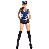 警官コスプレパーティー新しいスタイル警察ロールプレイ衣装ハロウィン衣装のため女