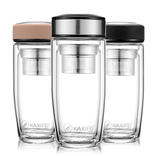 350ml Double Wall My Glass Water Bottle for Hot Cold Water T
