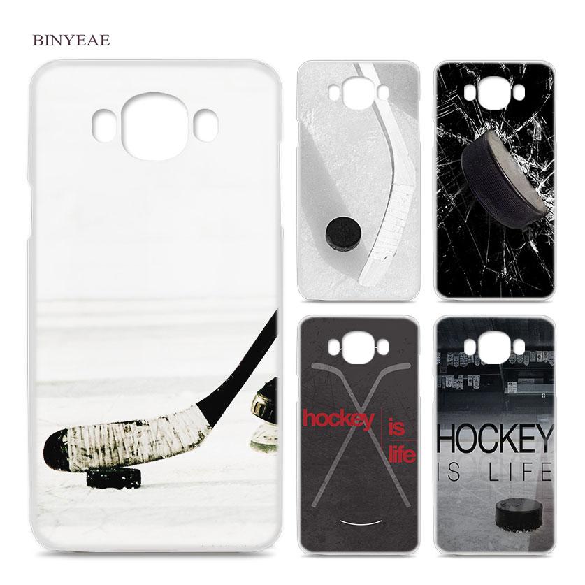 BINYEAE Hockey for Samsung Galaxy J1 J2 J3 J5 J7 2016 2017 EU Clear Case Cover Shell