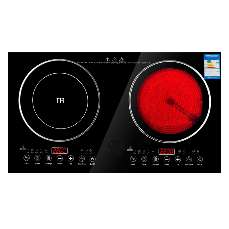 220V 2200W Electric Induction Cooker /cooktop/ Stove /cookware/hob/ Ceramic  Stove With 2 Cookers In Induction Cookers From Home Appliances On  Aliexpress.com ...