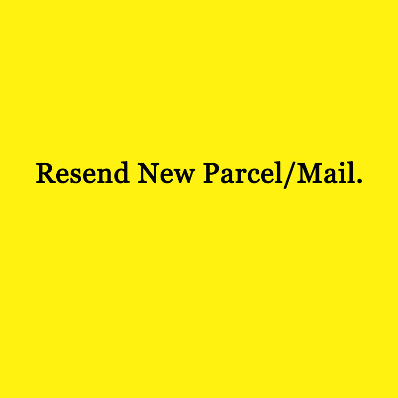 The Link For Resending New Parcel To Destination Country Recipent