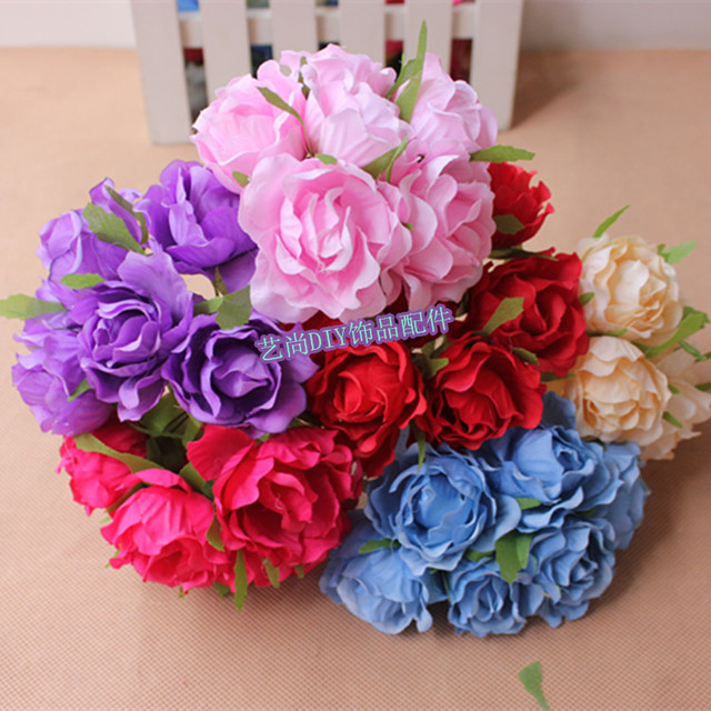 4 5cm48pcs small fabric real touch roseswire stemartificial 4 5cm48pcs small fabric real touch roseswire stemartificial flower mightylinksfo