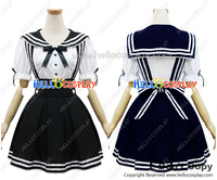 Japonais Anime Outfit Ange Plume Sangle Marine Costume de Marin Costume Noir Cosplay Outfit H008