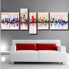 100% Handpainted American Style Modern Abstract Oil Painting On Canvas Wall Art For Home Decoration Living