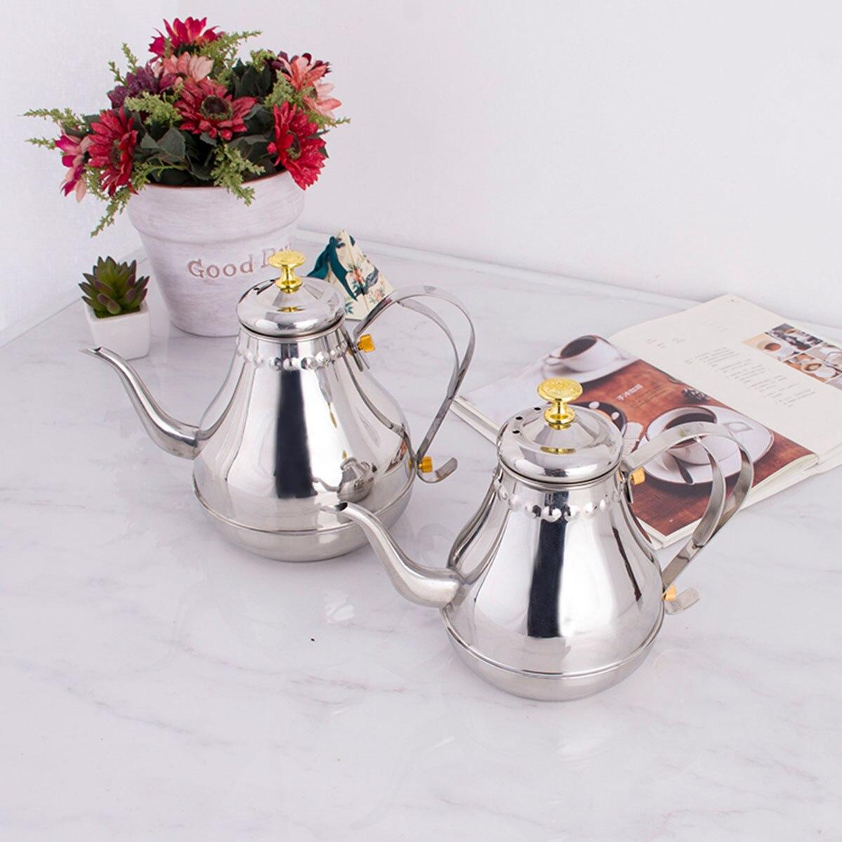 1,2/1.8л кофейник из нержавеющей стали чайник для чая/молока/цветка чайник с фильтром костюм для электрической плиты/газовой плиты подарок