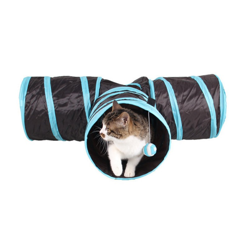 Y Shape 3 Ways Foldable Pet Cat Toys Tunnel Tent Nest Toys Home Folding Training Tunnel Cats Toys