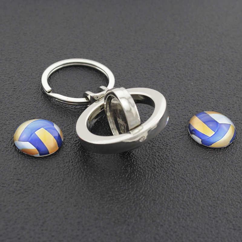 Llavero con colgante giratorio de baloncesto de amor de nueva llegada TAFREE con llavero giratorio de doble cara para llaves de coche, regalo para hombre SP465