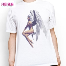 Hand Drawn Nude Angel With Wing T Shirt Inspired By Fantasy Sexy Art T-shirt Cool Novelty Tshirt Men Women Design Printed Tee