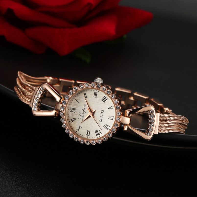 Excellent Quality New Ladies Small Round Dial Skeleton Bracelet Womens Watches Top Brand Casual Quartz Watch Waches Women