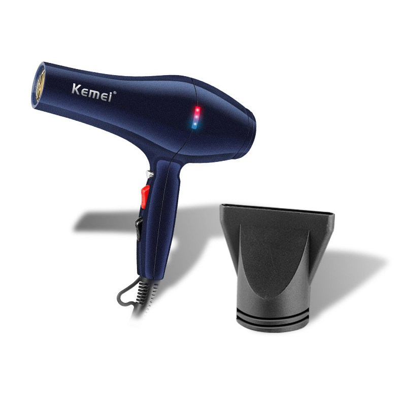 KM-8856 Brand high-power hair dryer 2000W Professional stylist hair dryer EU Plug hot and cold dual-function switch hair dryer km 585 brand 7 in 1 hair braider tool professional designer hair dryer eu plug hair curler family lady hair care device