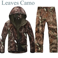 Tactical Gear Shark Skin Softshell Outdoor Jacket Military Pants Men Waterproof Army Camouflage Hoody Hunting Hiking