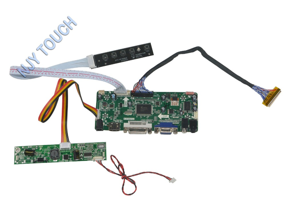 M NT68676 2A Universal HDMI VGA DVI Audio LCD Controller Board for 20inch 1600x900 LTM200KT10 104086