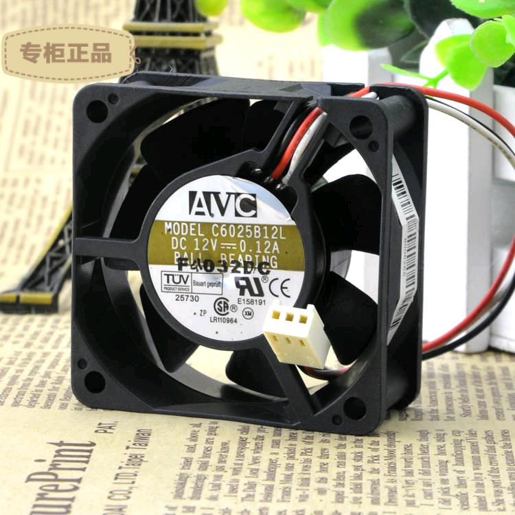 Free Delivery. 6025 C6025B12L 12 v 0.12 A 6 cm CPU <font><b>fan</b></font> <font><b>60</b></font> * <font><b>60</b></font> * 25 <font><b>mm</b></font> image