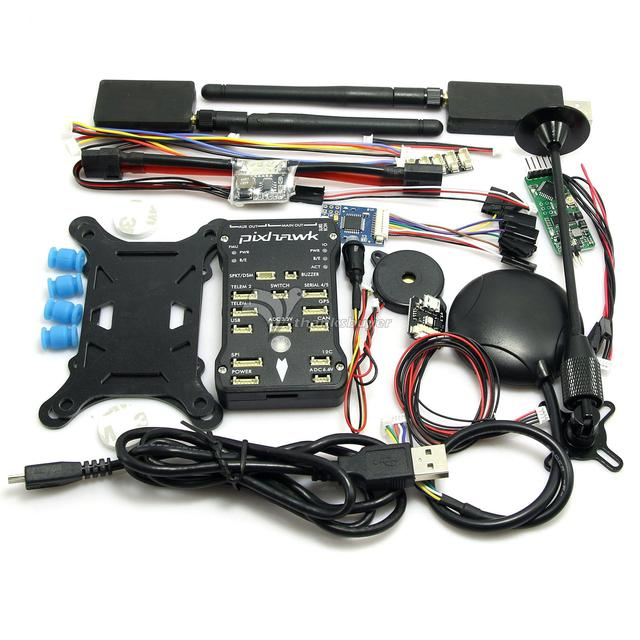 (Позолоченный Разъем) 2.4.7 Pixhawk PX4 Полет Контроллер и Led & NEO-M8N GPS и Модуль Питания/PPM/OSD/3DR для RC FPV Drone