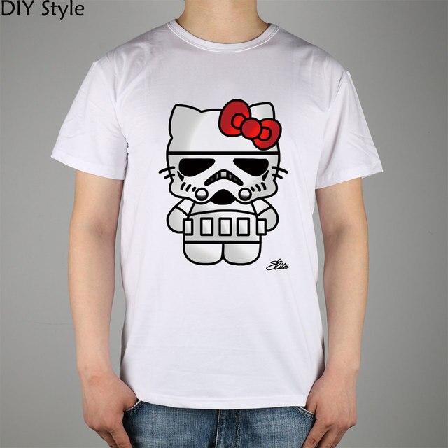 7b088ed82 TROOPER HELLO KITTY STAR WARS T-shirts Short Men new arrival Fashion Brand  t shirt