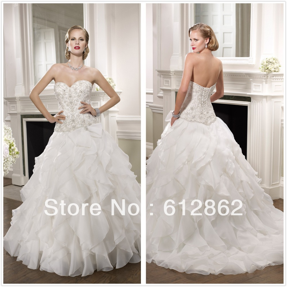 Buy elegant low back sweetheart neckline for Beaded low back wedding dress