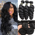 Peruvian Virgin Hair Loose Wave 3 Bundles Peruvian Loose Wave Curly Weave Human Hair Peruvian Curly Hair Loose Curly Virgin Hair
