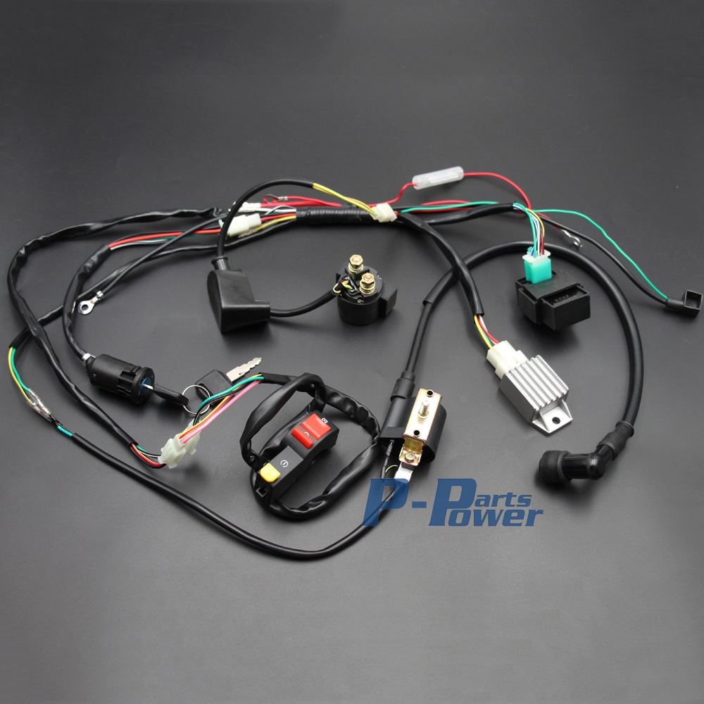 US $37.15 |Full Wiring Harness Loom 50/70/90/110/125cc Dirt/Pit BIke on engine harness, amp bypass harness, electrical harness, cable harness, pony harness, safety harness, maxi-seal harness, alpine stereo harness, pet harness, dog harness, obd0 to obd1 conversion harness, oxygen sensor extension harness, radio harness, fall protection harness, nakamichi harness, suspension harness, battery harness,