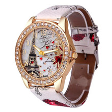 Relogio Femino Fabulous Fashion Tower Pattern Leather Band Analog Quartz Vogue Wrist Watches kol saati relojes mujer SEP22