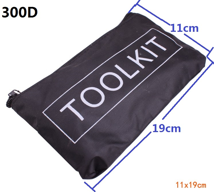 Acheter 50 pc/lot 300D ployester oxford tissu petit outil sac 19 cm * 11 cm Simple outil kits nylon 300D w Zipper Le kit d'accessoires de voiture de tool bag fiable fournisseurs