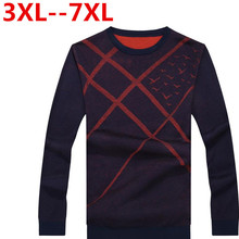 Ali 6XL 5XL Ali Sweater Men Casual Sweaters Mens O-Neck Knit Warm Pullover masculino sueter Pull homme jersey Male Polo Sweater