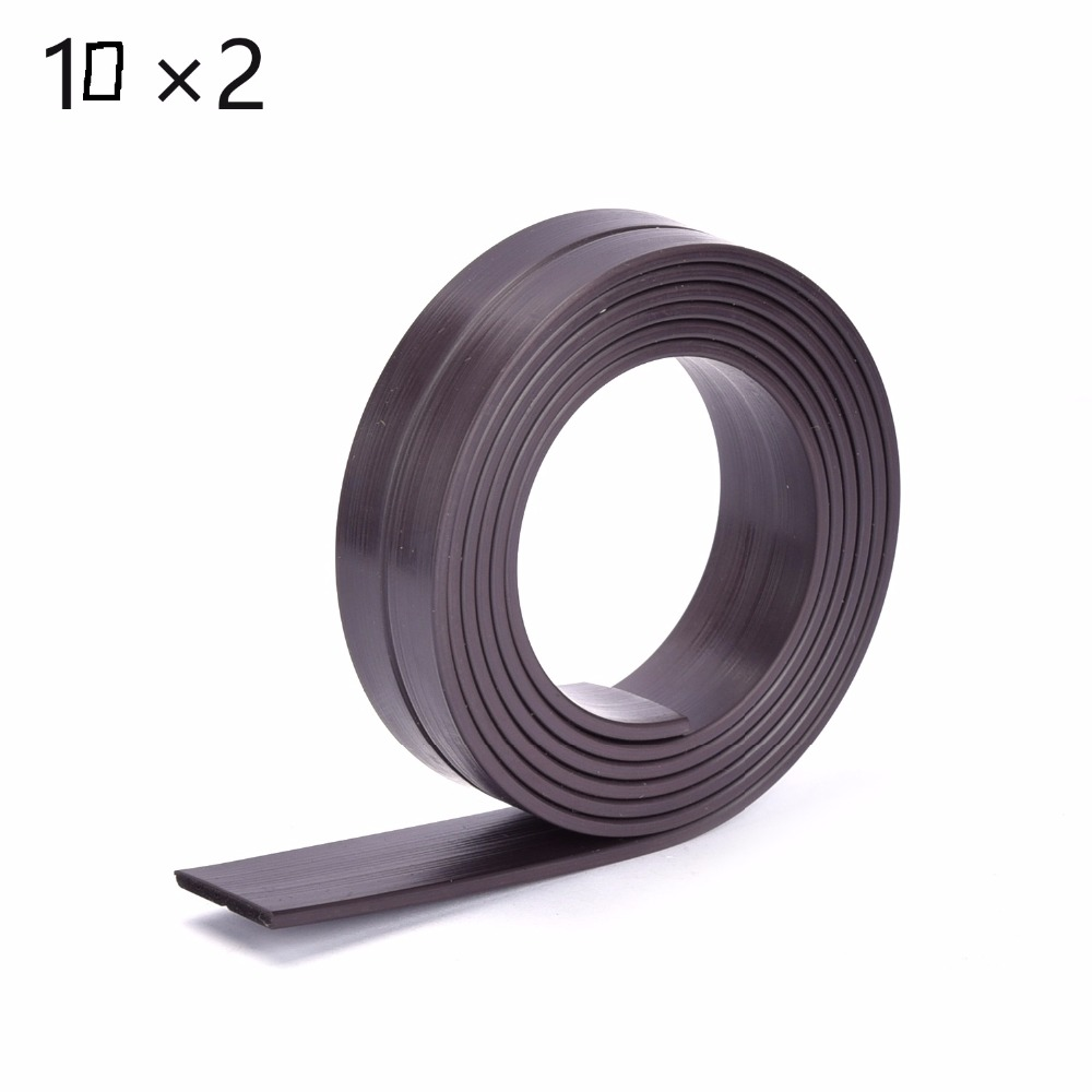 New 1M 10*2mm Flexible Soft Magnetic Rubber Magnet Strip Tape for Home School Office width :10mm thickness: 2mm. 1m 50x 1 5 mm rubber self adhesive magnetic stripe flexible magnet diy craft tape for shop office home school file