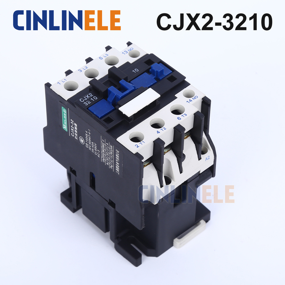 Contactor CJX2-3210 32A switches LC1 AC contactor voltage 380V 220V 110V Use with float switch