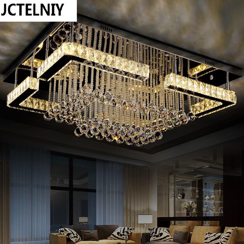 Wohnzimmer Leuchtet Rechteck Kristall Lampe Led Deckenleuchte Moderne Kurze Scheinwerfer Heterochrosis PersnlichkeitChina