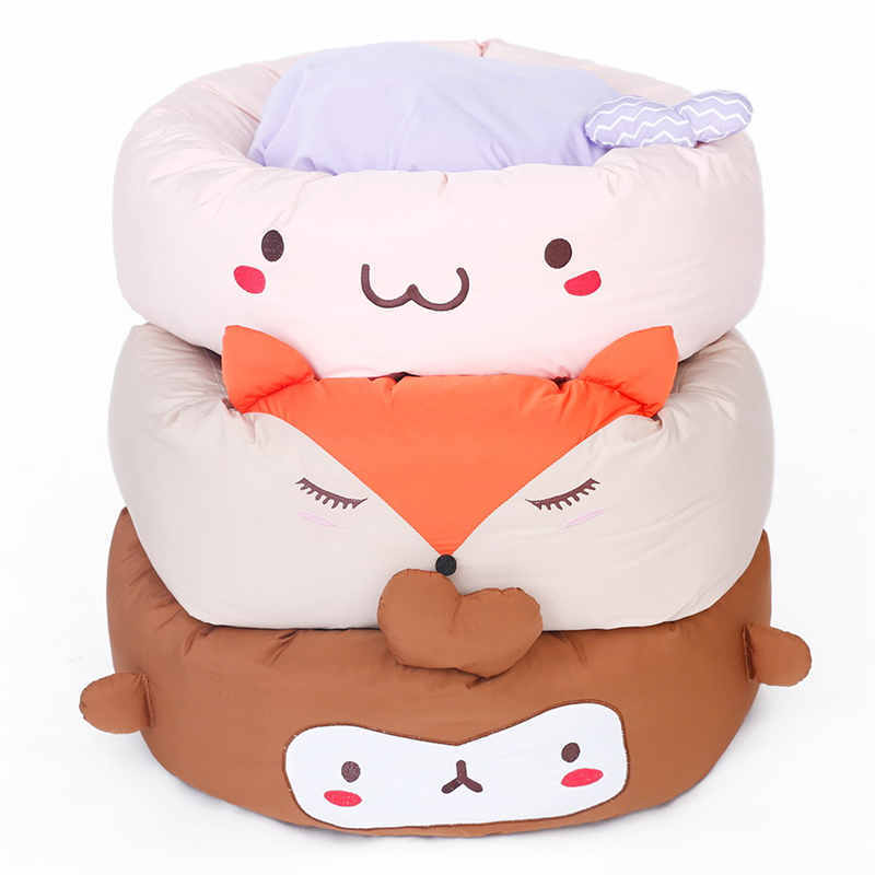 HOOPET Cute Cartoon Dogs Bed Puppy Soft Cat Dog Sleeping Bed House Kennel Pad <font><b>Cushion</b></font> Mat Pet Supplies Three Styles