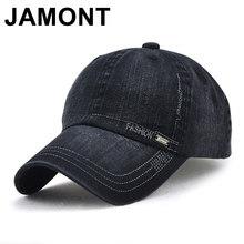 Jamont Mens Vintage algodón gorra de béisbol ajustable Casquette sombrero  curvado visera Snapback gorras verano otoño 8e156fbd94f8