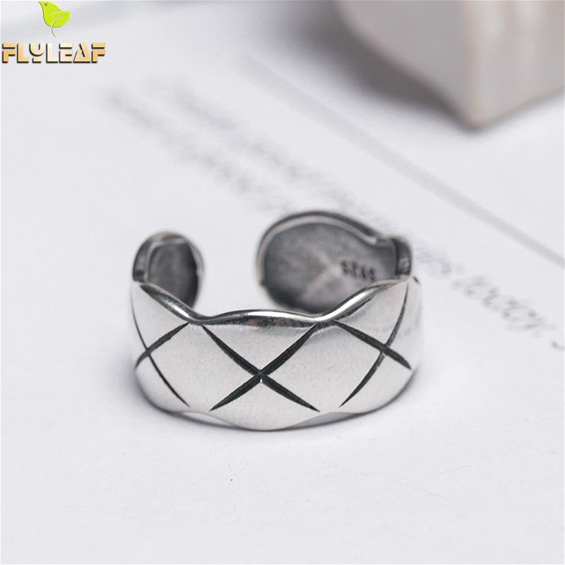 Flyleaf INS Style Smooth X Modeling Open Rings For Women High Quality 925 Sterling Silver Fashion Jewelry FemmeFlyleaf INS Style Smooth X Modeling Open Rings For Women High Quality 925 Sterling Silver Fashion Jewelry Femme