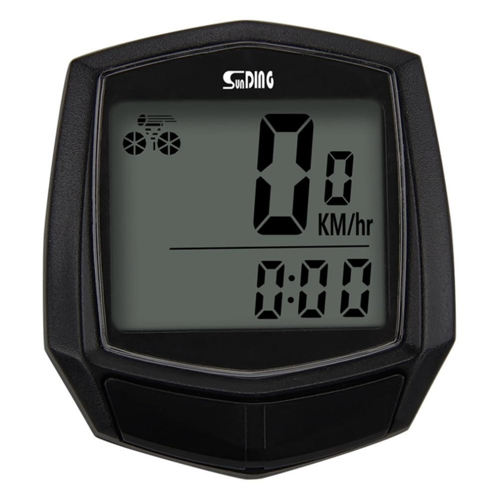 Sunding Bike Wired Stopwatch Bicycle Multifunction Computer Speedometer Odometer Sensor Outdoor Sport Accessories SD-581 Black