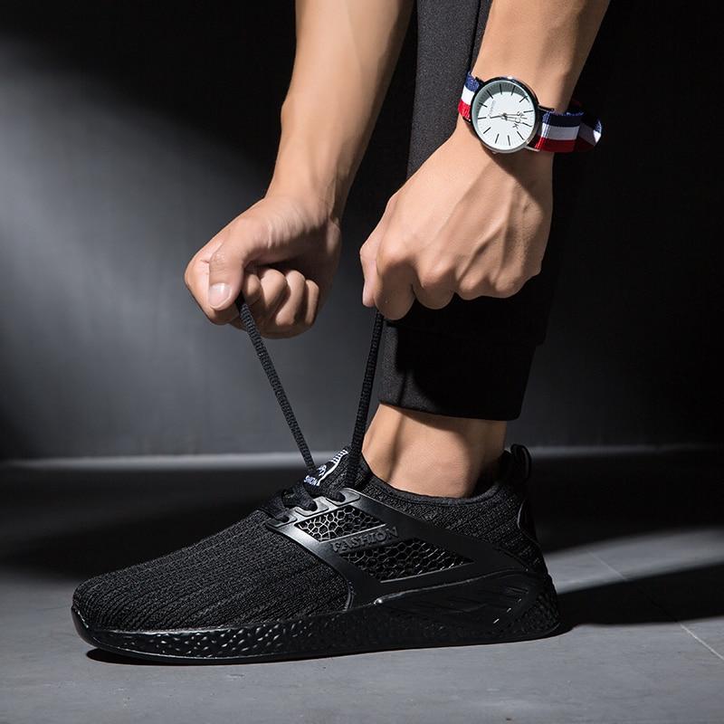 2018 Spring/Summer Sport Shoes For Men Lightweight Mesh Running Sneakers Luxury Black Grey Walking Jogging Sneakers