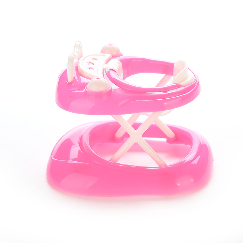 New Pink Plastic Walker For Doll House Dollhouse Miniature Accessories