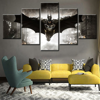 5 Pieces Batman Poster Wall Art Canvas Painting Nordic Wall Pictures for Living Room Decoration Picture Art Print
