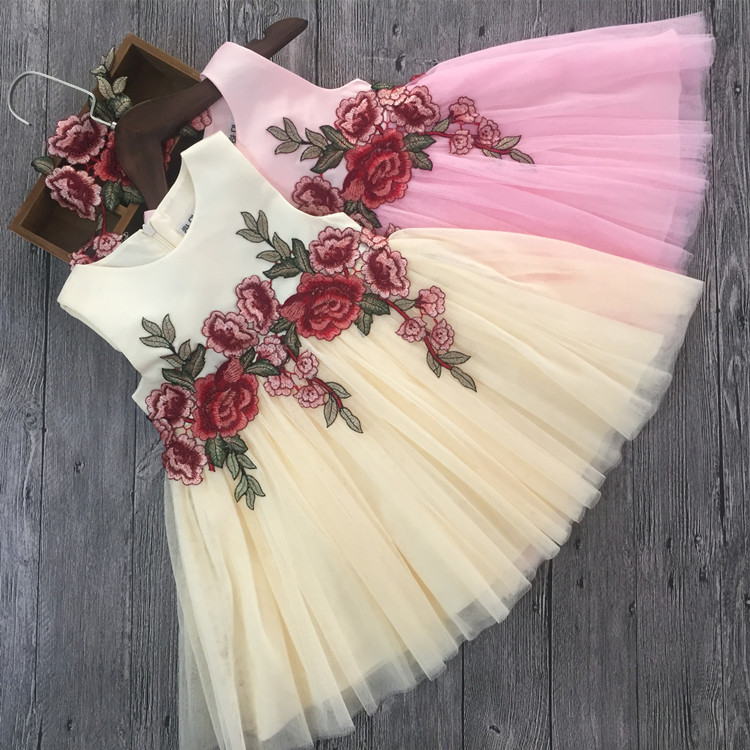 Luxury Lace Flower Girl Dresses Appliques Kids Prom Wedding Dress Ball Gown Girl Pageant Princess Dress Christmas Costumes teenage girl party dress children 2016 summer flower lace princess dress junior girls celebration prom gown dresses kids clothes