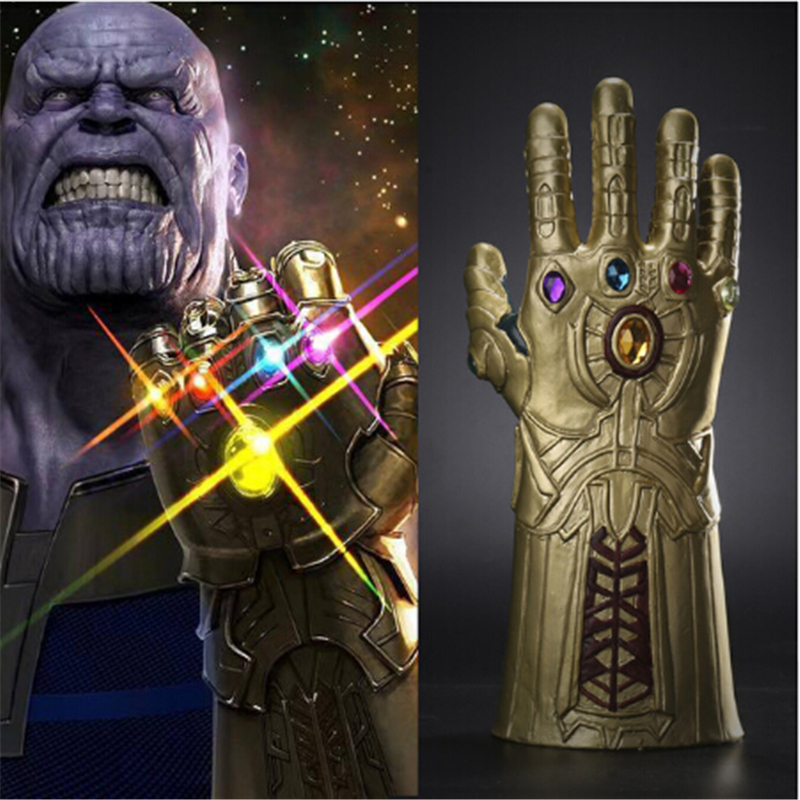 Thanos Infinity Gauntlet Avengers infinito guerra Cosplay Superhero Avengers Thanos guante Halloween Party Props Deluxe