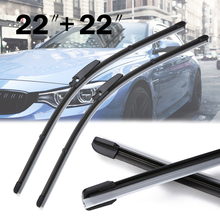 New Arrival 2pcs 22 Universal Front Window Windshield Wiper Blade For Audi A4 S4 A6 C6 new arrival 2pcs 22 universal front window windshield wiper blade for audi a4 s4 a6 c6