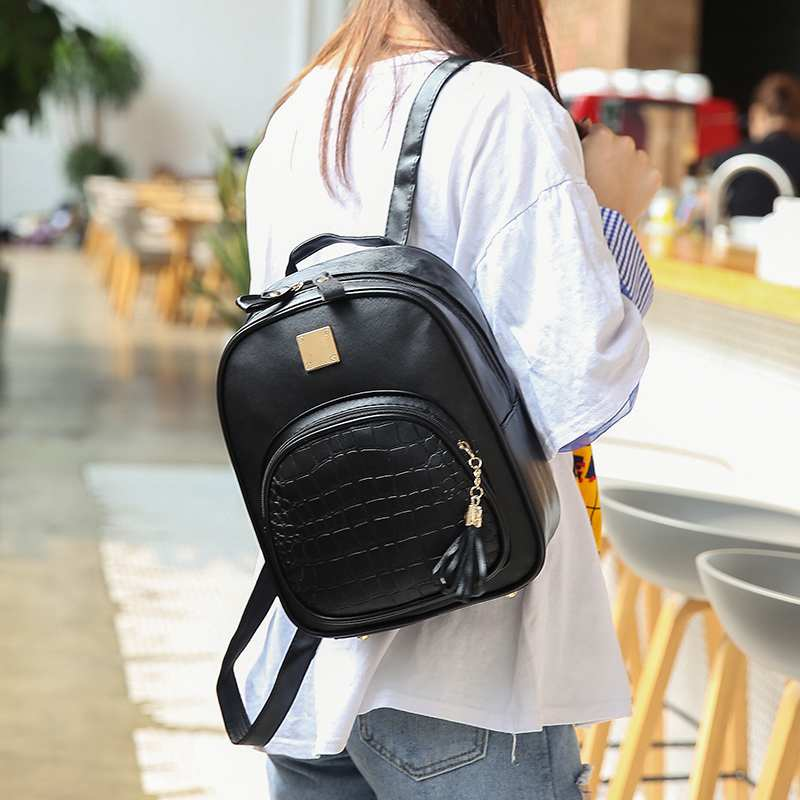 Nibesser Backpacks Woman Mini Leather Backpack Female Solid Color Bookbag Mochila Gift Backbag Backpack Schoolbag For Girls #2