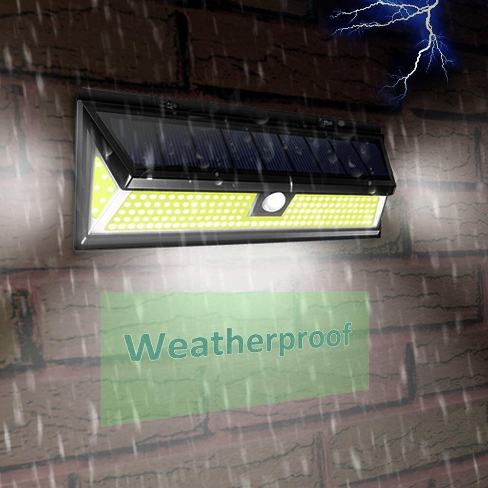 180 COB LED Solar Light PIR Motion Sensor Wall Waterproof Outdoor Garden Pathway Security Lamp