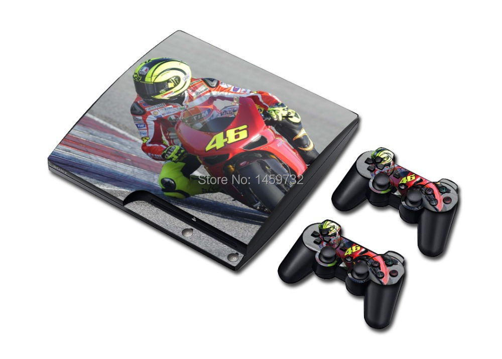 New Popular Valentino Rossi Vinyl Decal Skin Sticker for PlayStation 3 PS3 Slim Console Controller Games Cover