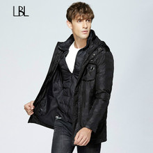 2017 New Brand Clothing Mens Winter Parkas Thick Hooded Bomber Jacket Men Keep Warm Casual Winter Coat Men Masculine Jacket