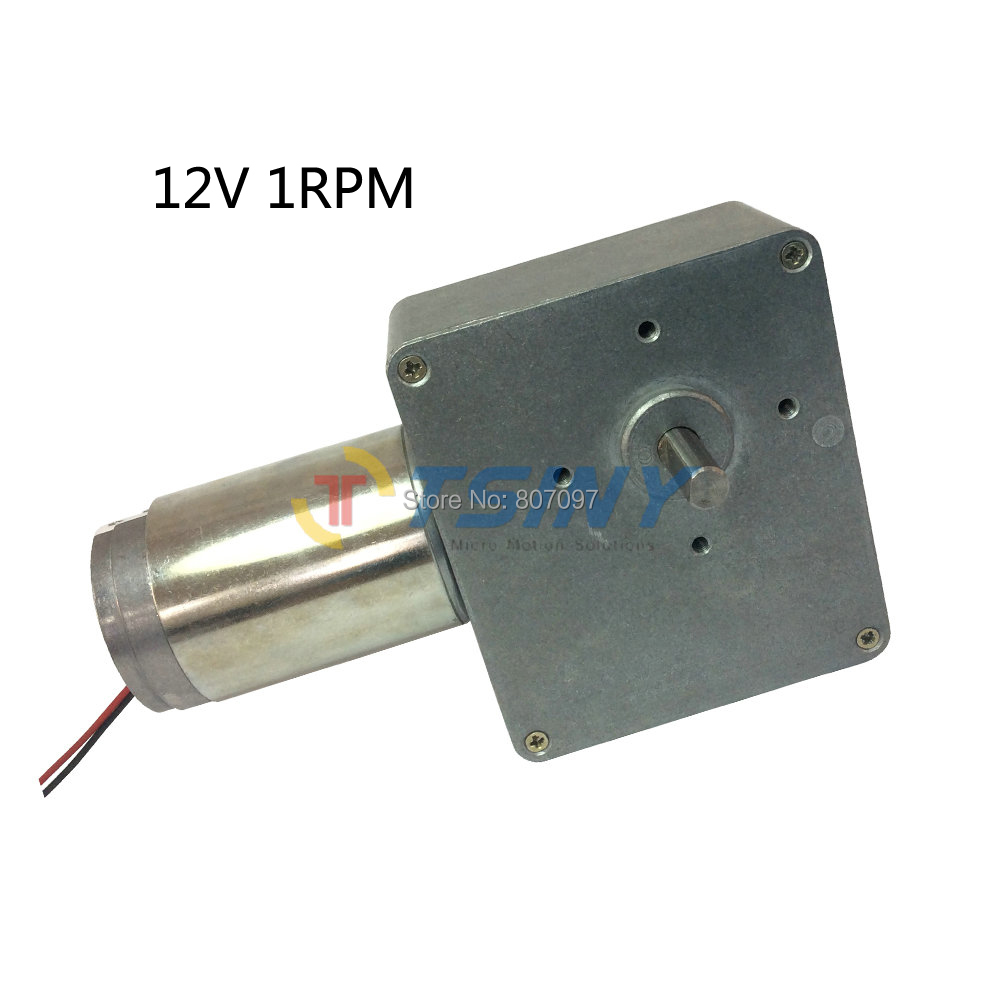 Dc 12v 1rpm high torque electric worm gear motor low speed for Low speed dc motor 0 5 6 volt