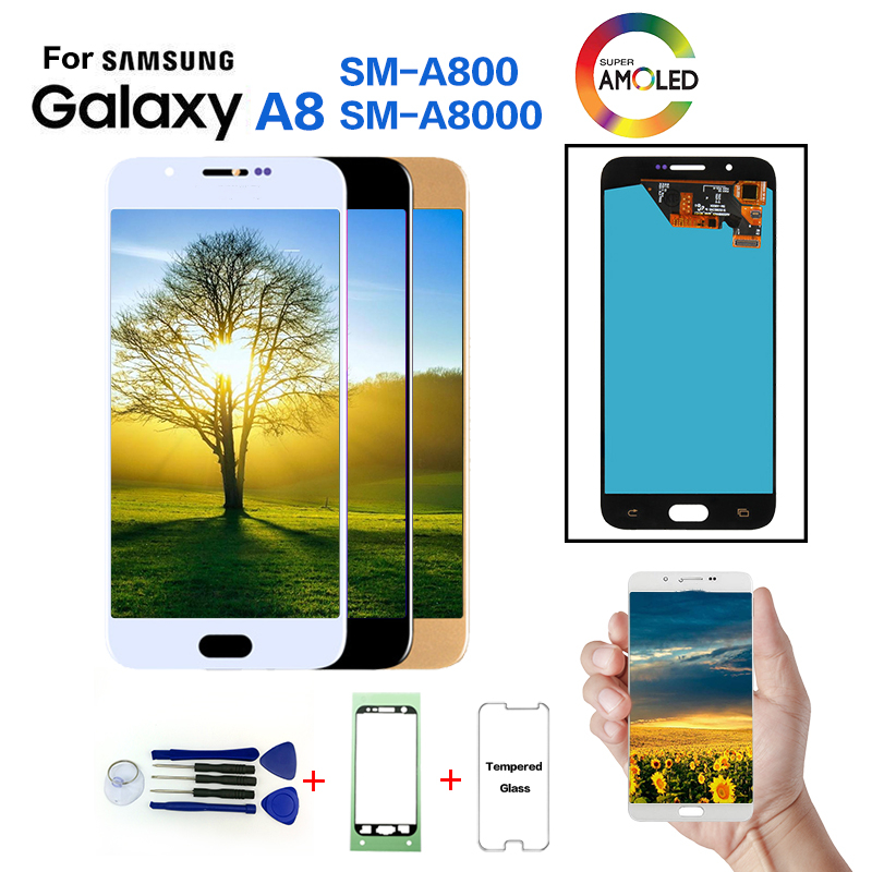 AMOLED For Samsung Galaxy A8 A800 SM A800F Display LCD Screen replacement for Samsung A800I A8000 LCD display screen module